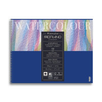 Альбом WATERCOLOUR Studio 32,0х41,0см, 300гр/м2, 12 листов, спираль, 25% хлопка, Fabriano